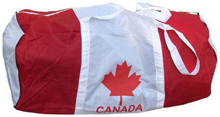 Canada Sports Duffle Bag with maple leaf on side