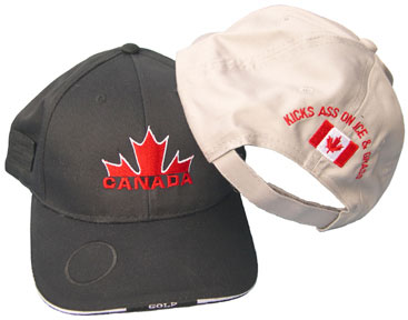 Canada Half Maple Golfer's Ball Cap with magnetic disk for holding ball marker