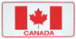 Canadian Flag License Plate (plastic)