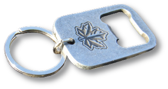 ocg mapleleaf keychain with bottle opener. Black Bedroom Furniture Sets. Home Design Ideas