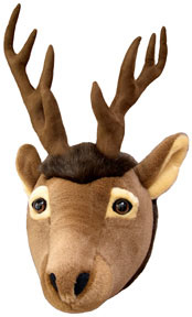 Wall-mount elk head for the 'Great Outdoors' look