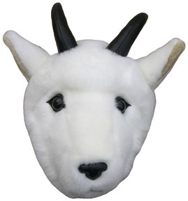 Wall-mount mountain goat head for the 'Great Outdoors' look