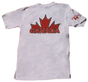 Canada Maple Leaf T-shirt (back)