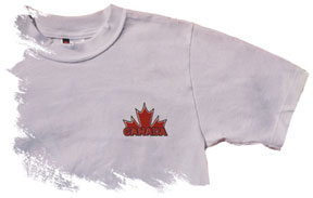 Canada Maple Leaf T-shirt (left chest logo)